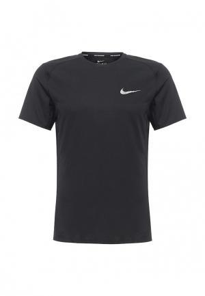 Футболка спортивная Nike Miler Mens Short-Sleeve Running Top. Цвет: черный