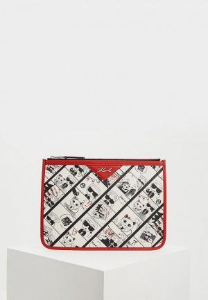 Клатч Karl Lagerfeld. Цвет: бежевый