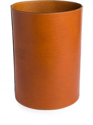 Высокая корзина из зернистой кожи Michael Verheyden. Цвет: коричневый
