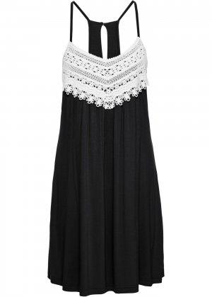 Летнее платье bonprix. Цвет: черный