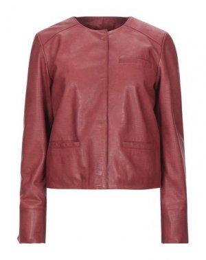 Куртка BLUE LES COPAINS. Цвет: красно-коричневый