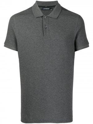 Рубашка поло Troy из ткани пике J Lindeberg. Цвет: серый