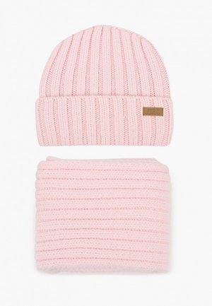 Шапка и шарф Ferz. Цвет: розовый