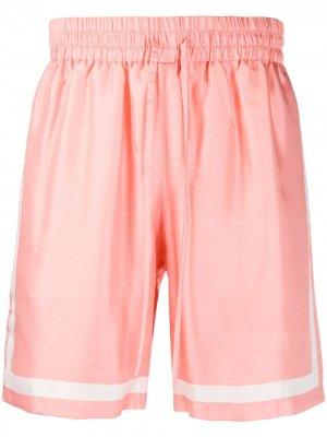 Спортивные шорты с контрастными полосками Casablanca. Цвет: розовый