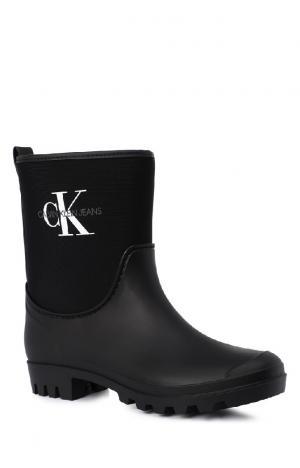 Резиновые полусапоги Calvin Klein Jeans. Цвет: черный