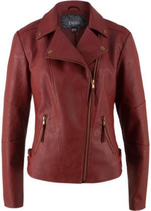 Куртка-косуха из искусственной кожи (красный) bonprix. Цвет: красный