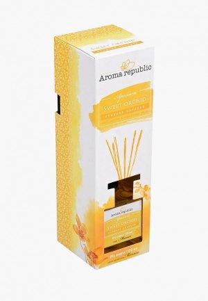 Аромадиффузор Aroma republic Сладкая орхидея. Цвет: желтый