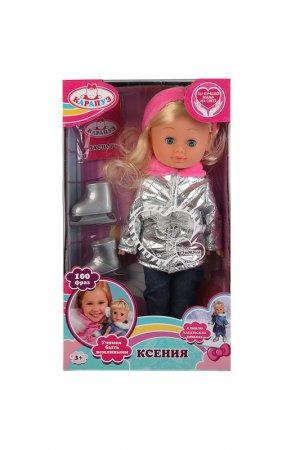 Кукла Ксения фигуристка Карапуз. Цвет: голубой