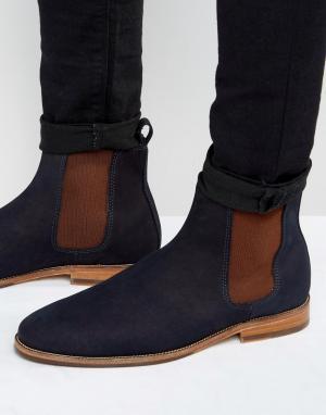 Замшевые ботинки челси LHorloger Bobbies. Цвет: темно-синий