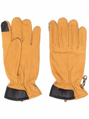 Touch-screen suede gloves Timberland. Цвет: желтый