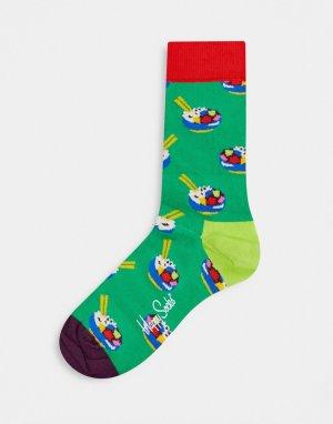 Носки с принтом суши -Зеленый Happy Socks