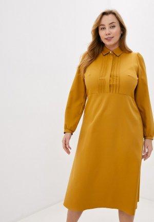 Платье Lacy. Цвет: желтый