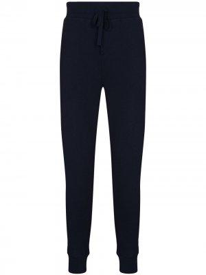 Зауженные спортивные брюки с вышитым логотипом Polo Ralph Lauren. Цвет: синий