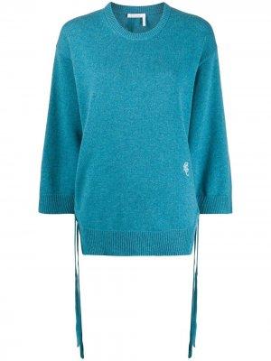 Пуловер с длинными рукавами Chloé. Цвет: синий