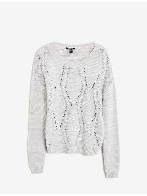 Пуловер Jennyfer. Цвет: серый меланж