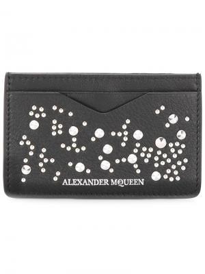 Визитница с заклепками Alexander McQueen. Цвет: чёрный