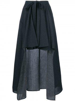 Асимметричная юбка с драпировкой Chalayan. Цвет: синий