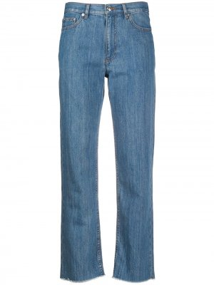 Прямые джинсы с бахромой A.P.C.. Цвет: синий
