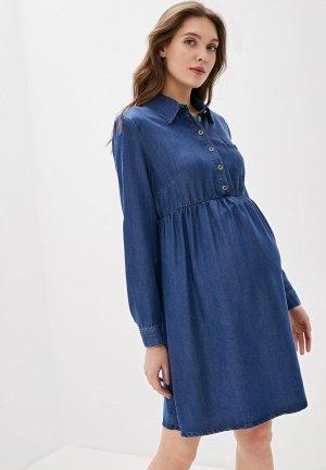 Платье джинсовое Mams Mam's. Цвет: синий