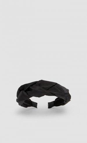 Плетеный Ободок Черный 103 Stradivarius. Цвет: черный
