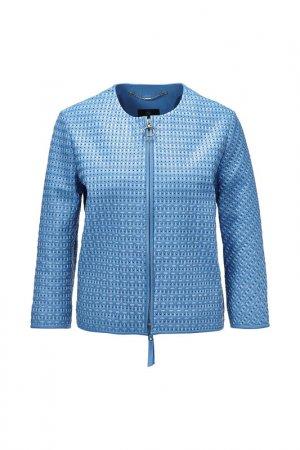 Куртка кожаная Madeleine. Цвет: blau