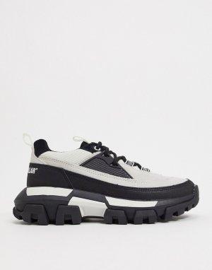 Черно-белые кроссовки на платформе CAT-Белый Cat Footwear