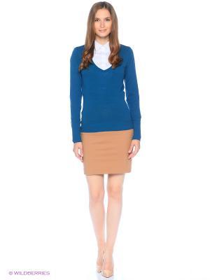 Пуловер Alcott. Цвет: бирюзовый