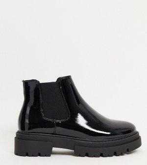 Черные ботинки челси на массивной подошве для широкой стопы Glamorous-Черный Glamorous Wide Fit