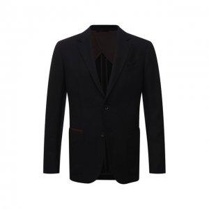 Пиджак из шерсти и кашемира Ermenegildo Zegna. Цвет: чёрный