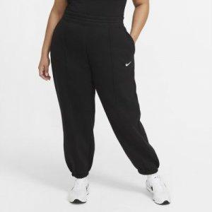 Женские флисовые брюки Nike Sportswear Trend (большие размеры) - Черный