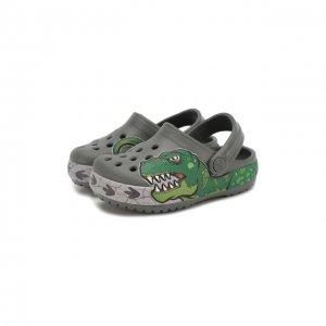Сабо FL Dino Ba Crocs. Цвет: зелёный