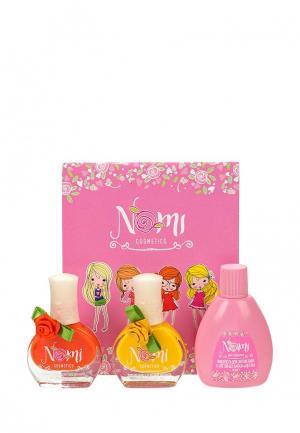 Набор лаков для ногтей Nomi №15 и №17  жидкость снятия лака. Цвет: разноцветный