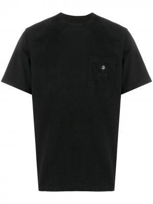 Embroidered logo T-shirt Stussy. Цвет: черный