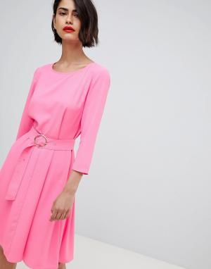 Платье в стиле 60-х с поясом 2NDDAY 2nd Day. Цвет: розовый