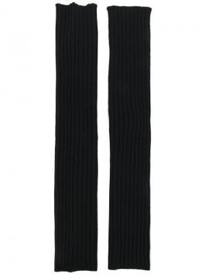 Длинные перчатки без пальцев Rick Owens. Цвет: чёрный
