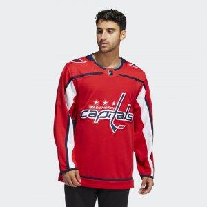 Оригинальный хоккейный свитер Capitals Home Performance adidas. Цвет: красный