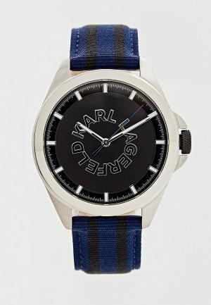 Часы Karl Lagerfeld. Цвет: синий