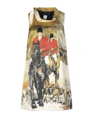 Короткое платье ANDREA TURCHI. Цвет: зеленый