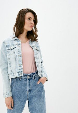 Куртка джинсовая Befree. Цвет: голубой