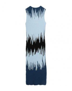 Платье длиной 3/4 OPENING CEREMONY. Цвет: небесно-голубой