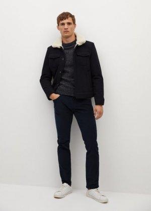 Вельветовые брюки в стиле джинсов slim fit - Bardem Mango. Цвет: темно-синий