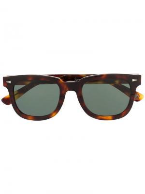 Солнцезащитные очки Square Du Temple Ahlem. Цвет: коричневый