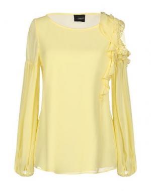 Блузка ATOS LOMBARDINI. Цвет: желтый