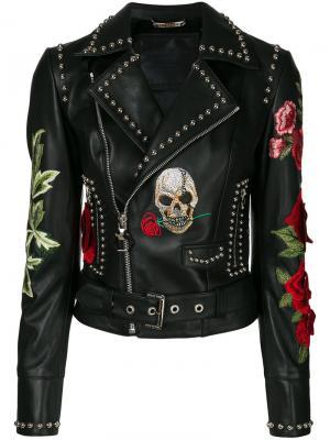Байкерская куртка Carole Guado Philipp Plein. Цвет: чёрный
