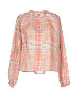 Pубашка ULLA JOHNSON. Цвет: розовый