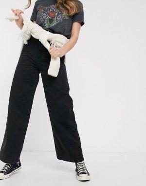 Черные легкие джинсы с широкими штанинами -Черный ASOS DESIGN