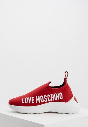 Кроссовки Love Moschino. Цвет: красный