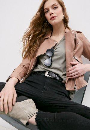 Куртка кожаная AllSaints. Цвет: розовый