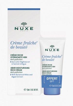 Набор для ухода за лицом Nuxe CREME FRAICHE DE BEAUTE сухой кожи. Цвет: прозрачный