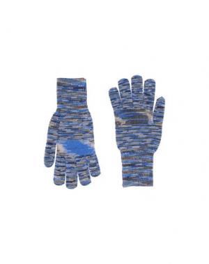Перчатки MISSONI. Цвет: синий